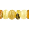 "Abacus Shape 8mm 2X8"" Strand Yellow Opal"